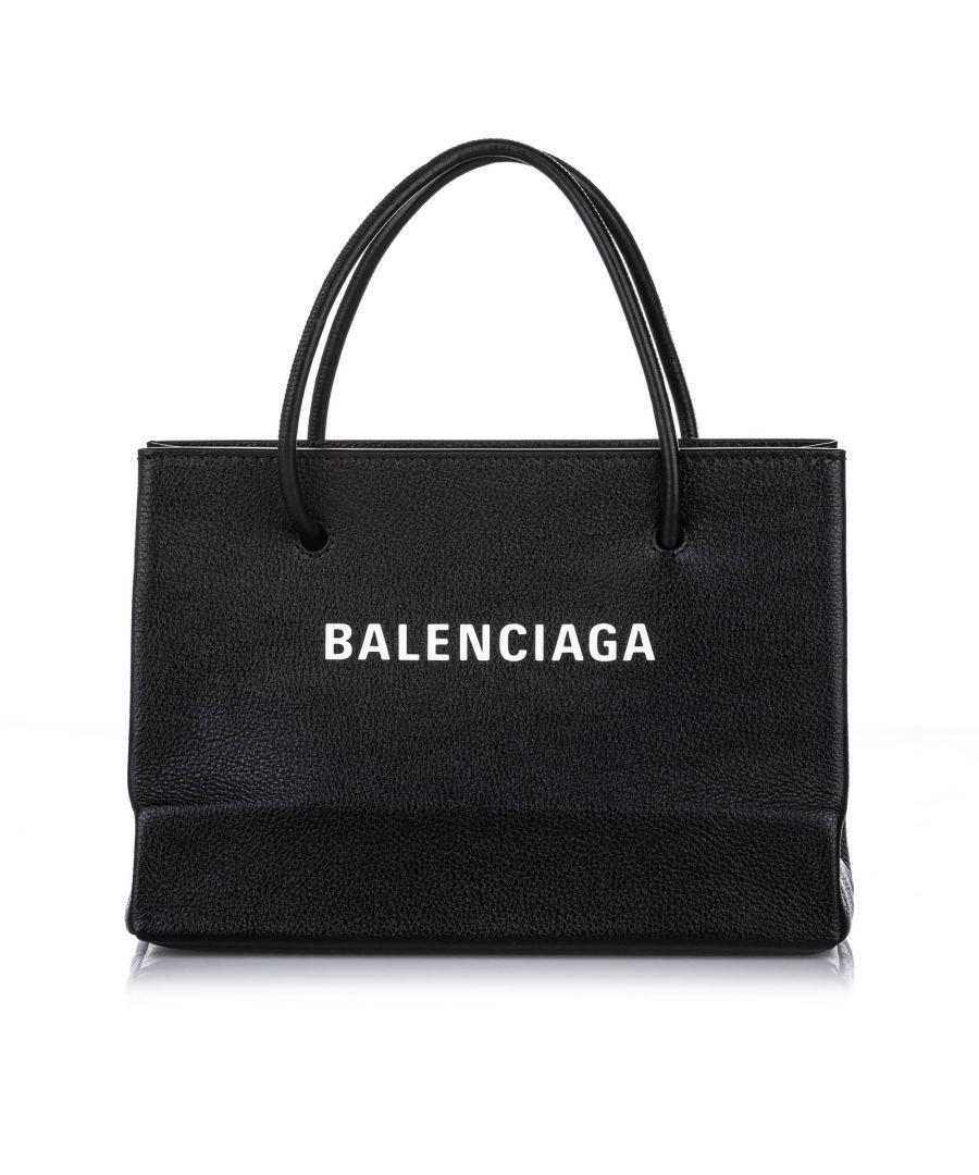 Image for Balenciaga S Shopping Leather Satchel Black