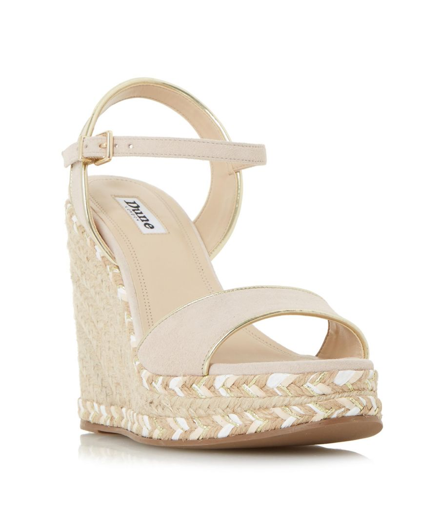 Image for Dune Ladies KRYSIE High Raffia Wedge Sandal