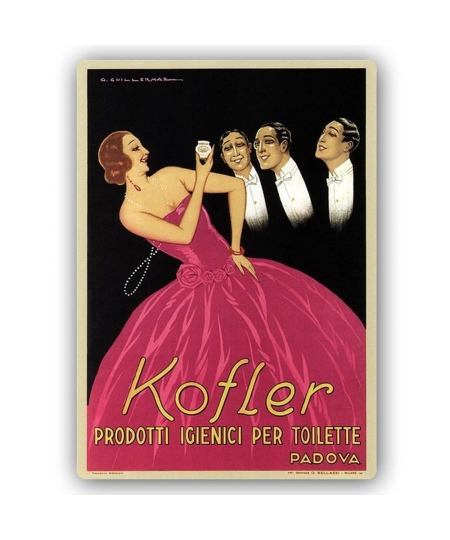Image for Vintage Advertising Poster - Metal Print  - Kofler Beauty Products