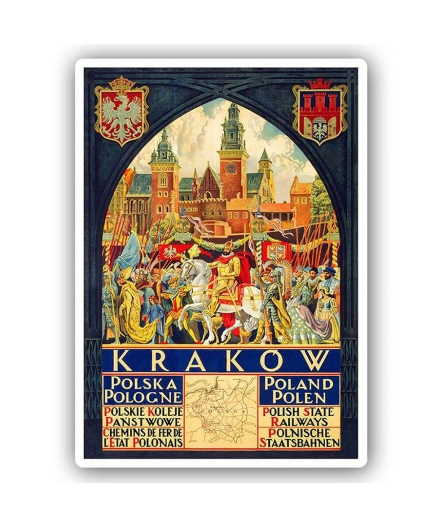 Image for Vintage Tourist Poster - Metal Print  - Krakow