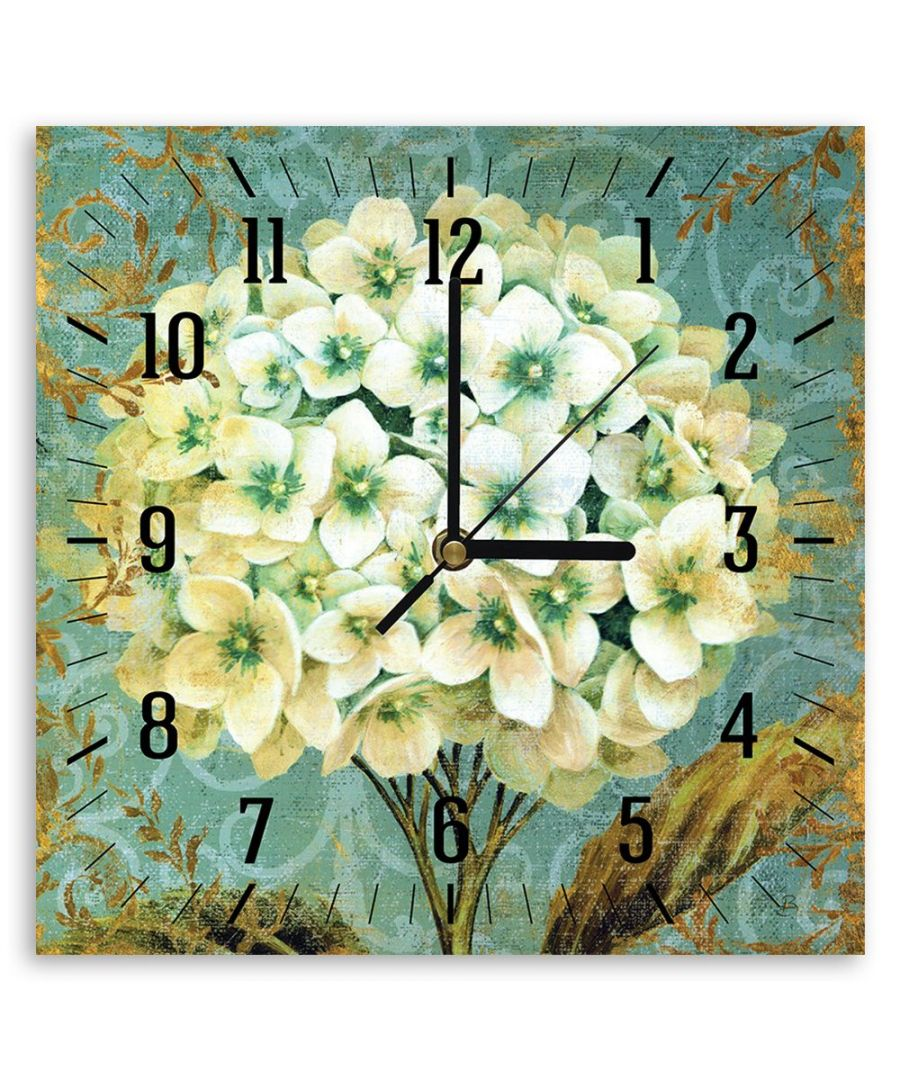 Image for Wall Clock - The Hydrangea Cm. 30x30