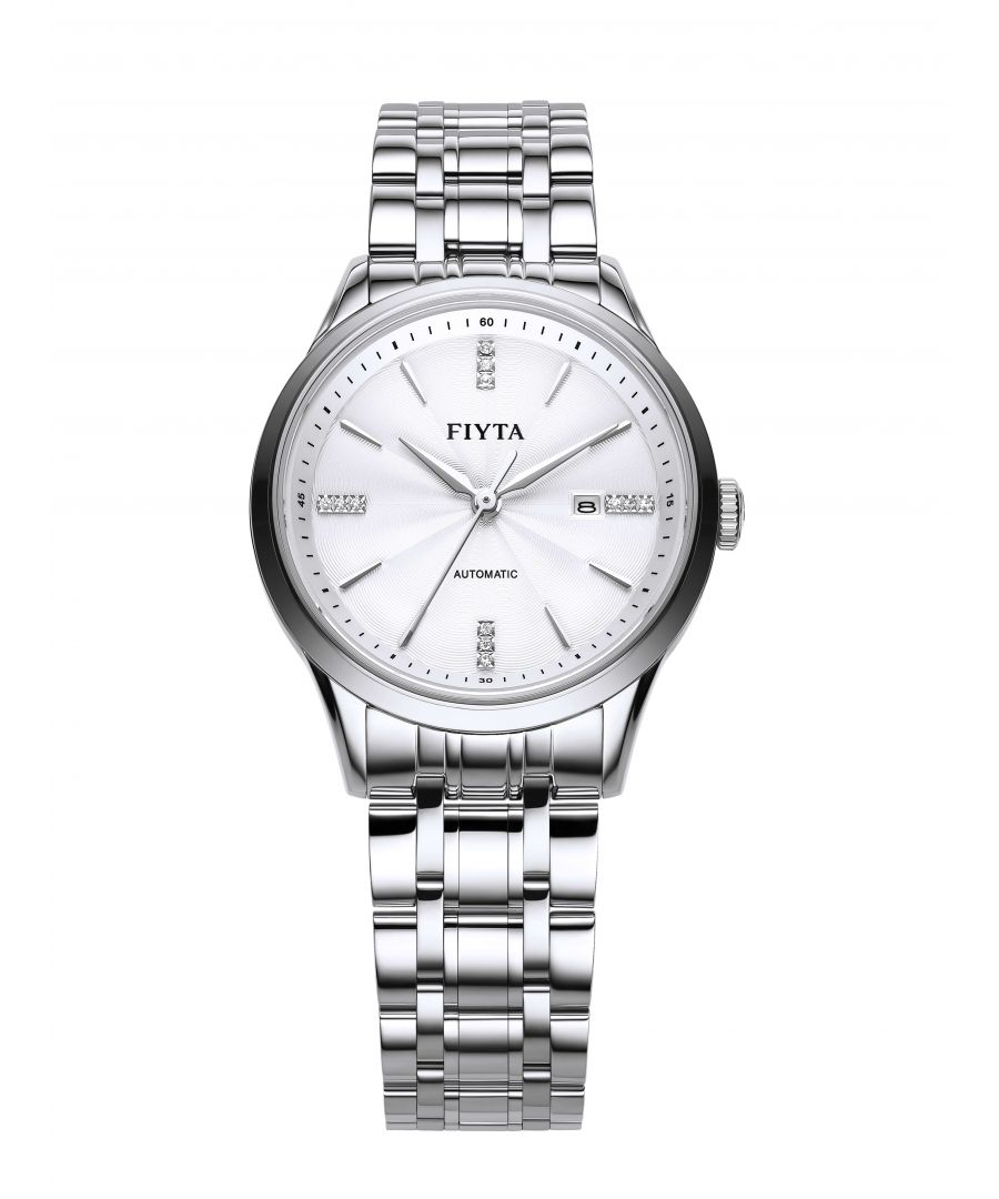 Image for Fiyta Mens Automatic Classic Watch White Dial