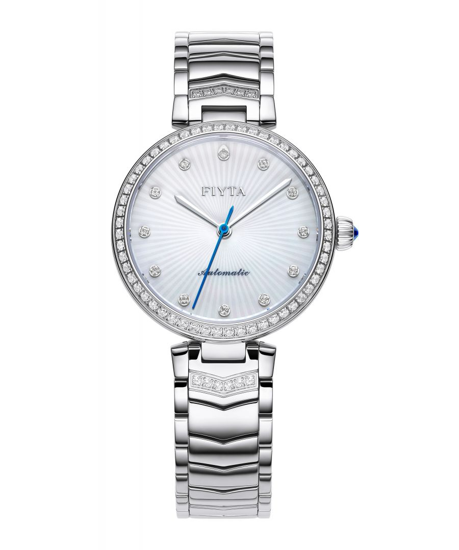 Image for Fiyta Ladies Automatic Steel Floriography Watch