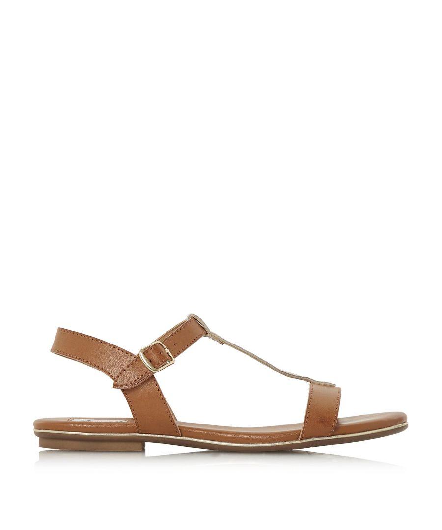 Image for Dune Ladies LADDER Cross Strap Flat Sandals