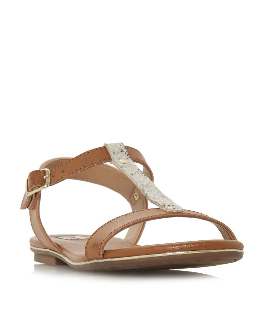Image for Dune Ladies LADDER Cross Strap Flat Sandal