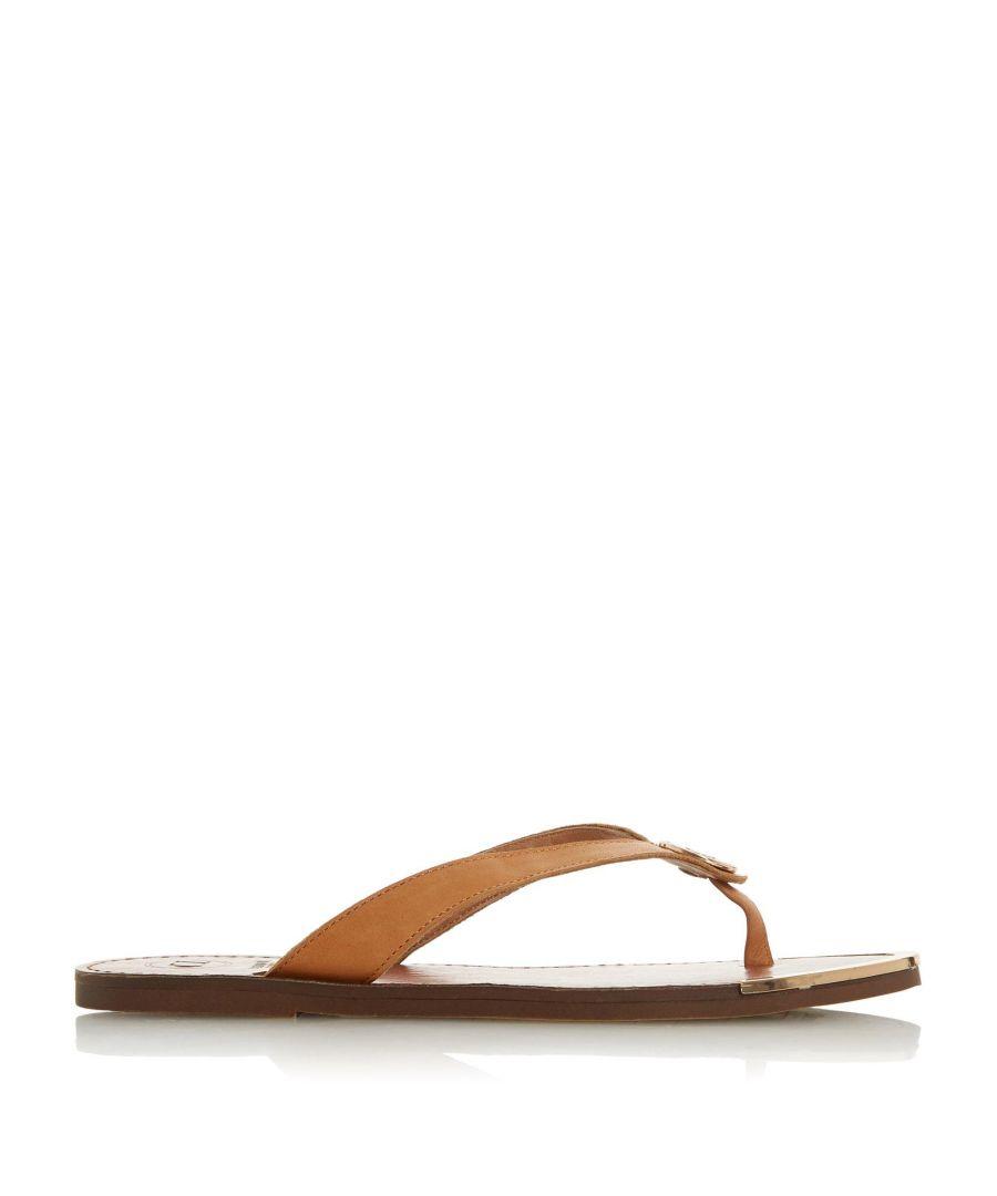 Image for Dune Ladies LAGOONS Metal Trim Toe Post Sandals