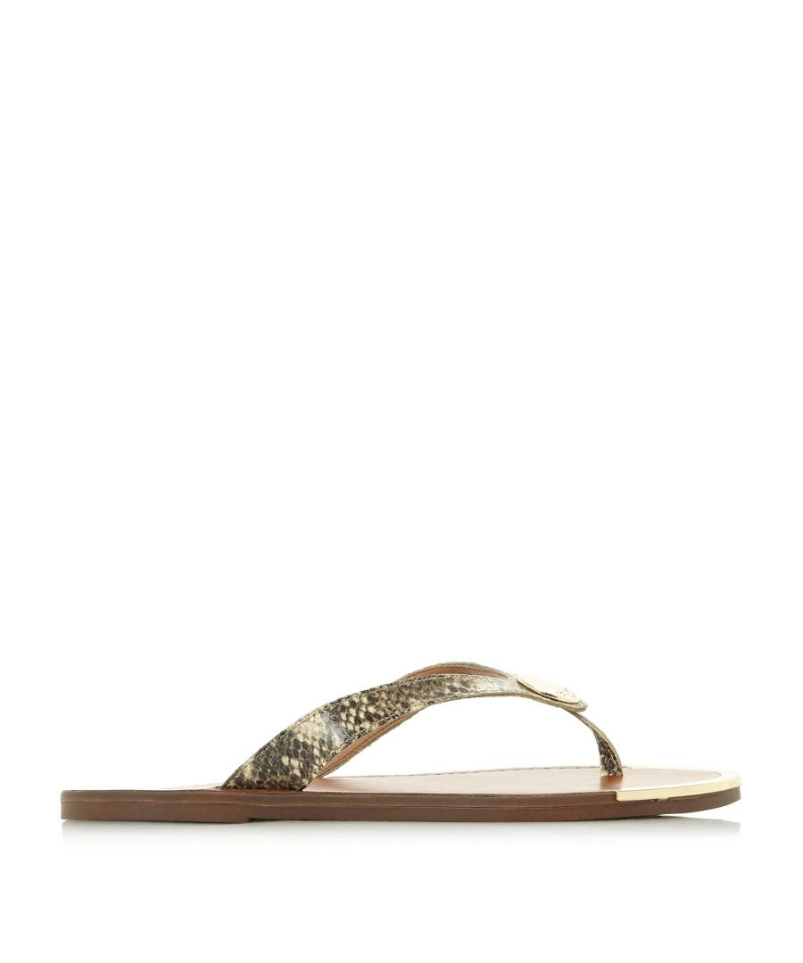 Image for Dune Ladies LAGOS Metal Disc Trim Toe Post Sandals
