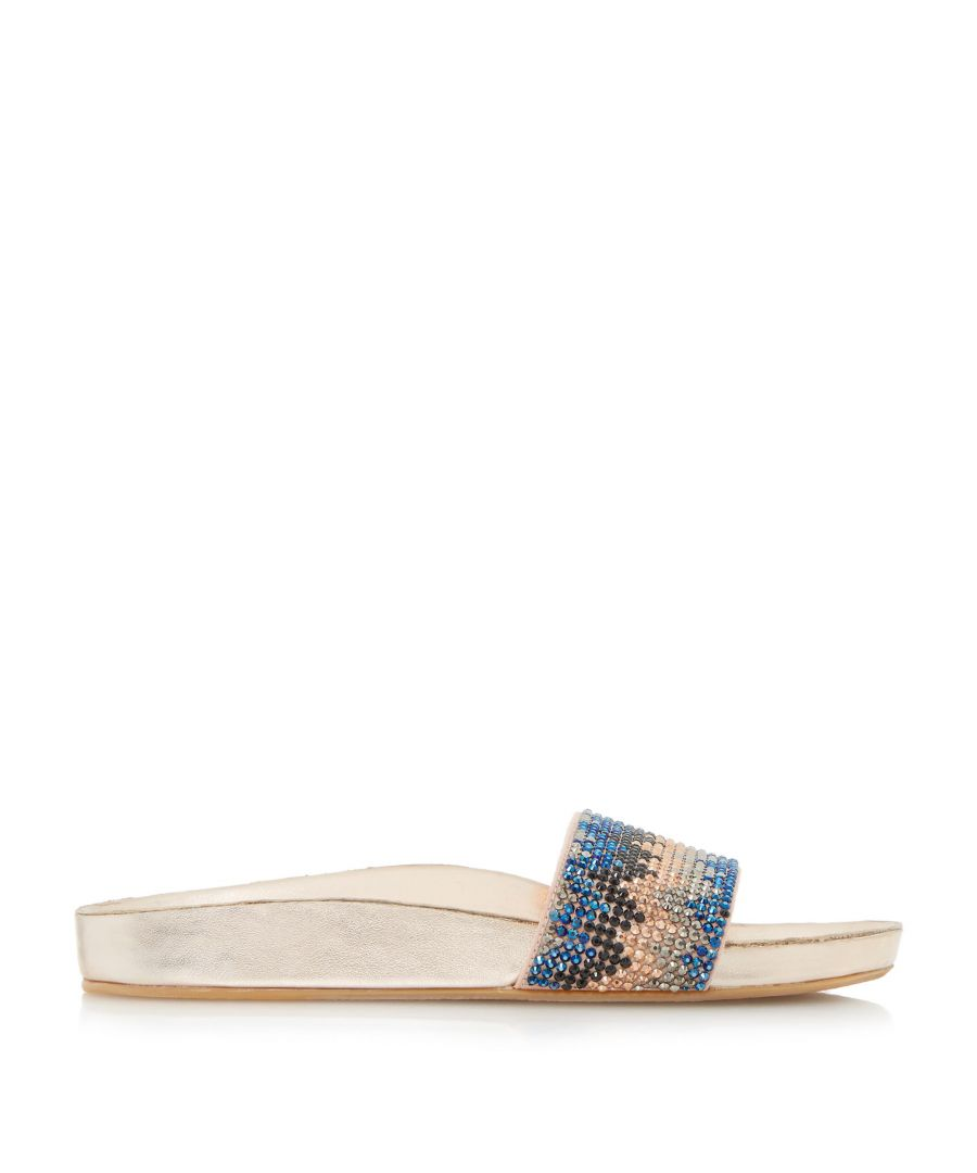 Image for Dune Ladies LAIZER Chevron Embellished Slider Sandals