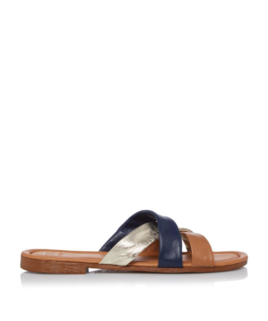 Image for Dune Ladies LAURAL Colour Block Flat Sandals
