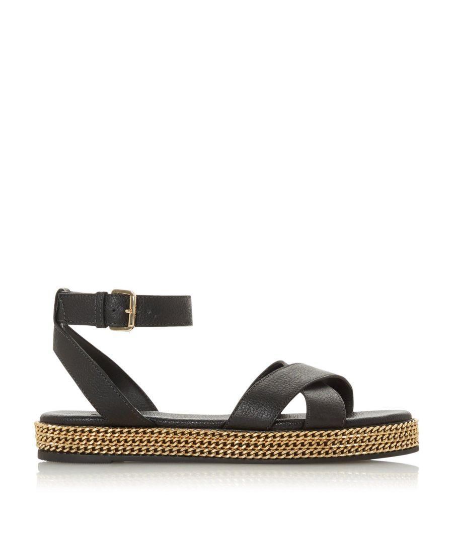 Image for Dune Ladies LAWSON  Chain Detail Espadrille Flatform Sandals