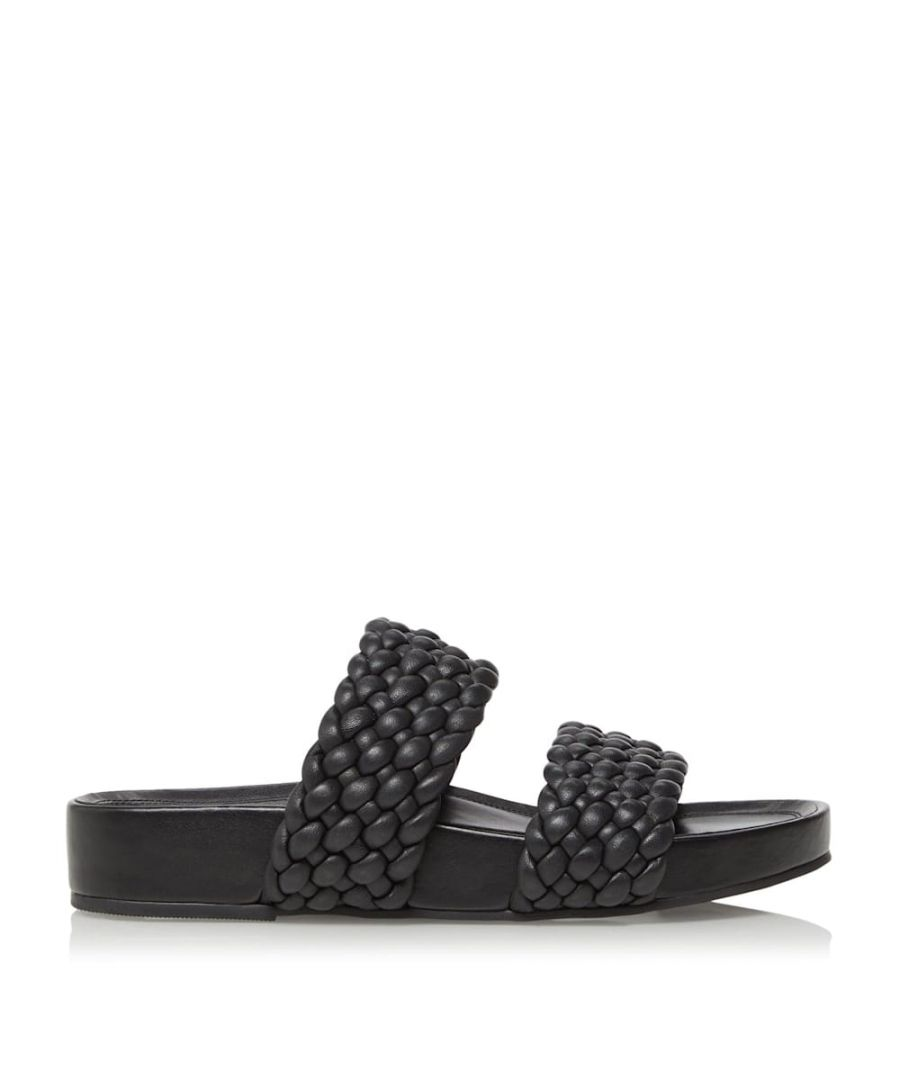 Image for Dune Ladies LAYLOW Padded Woven Strap Sliders