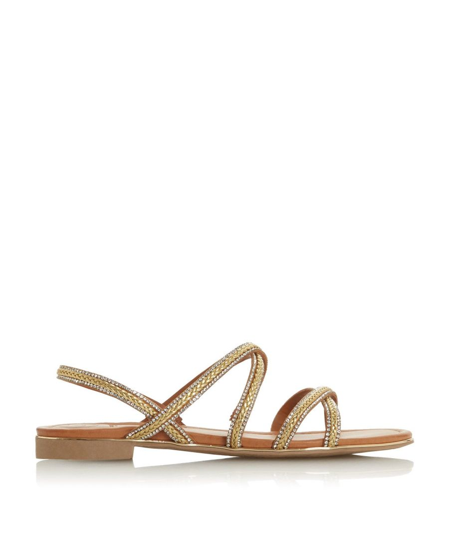 Image for Dune Ladies LECTURE Braided Diamante Strap Sandal