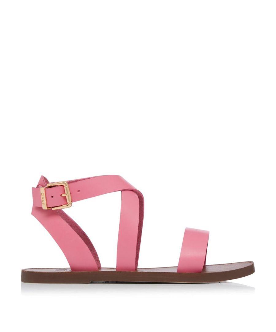 Image for Dune Ladies LEELS Wrap Strap Flat Sandals