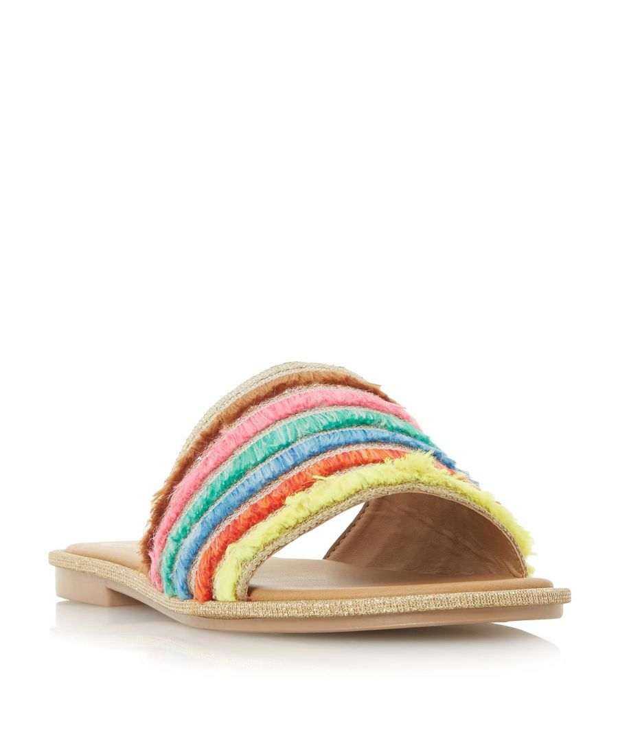 Image for Dune Ladies LEMONADE Colourful Frayed Trim Mule