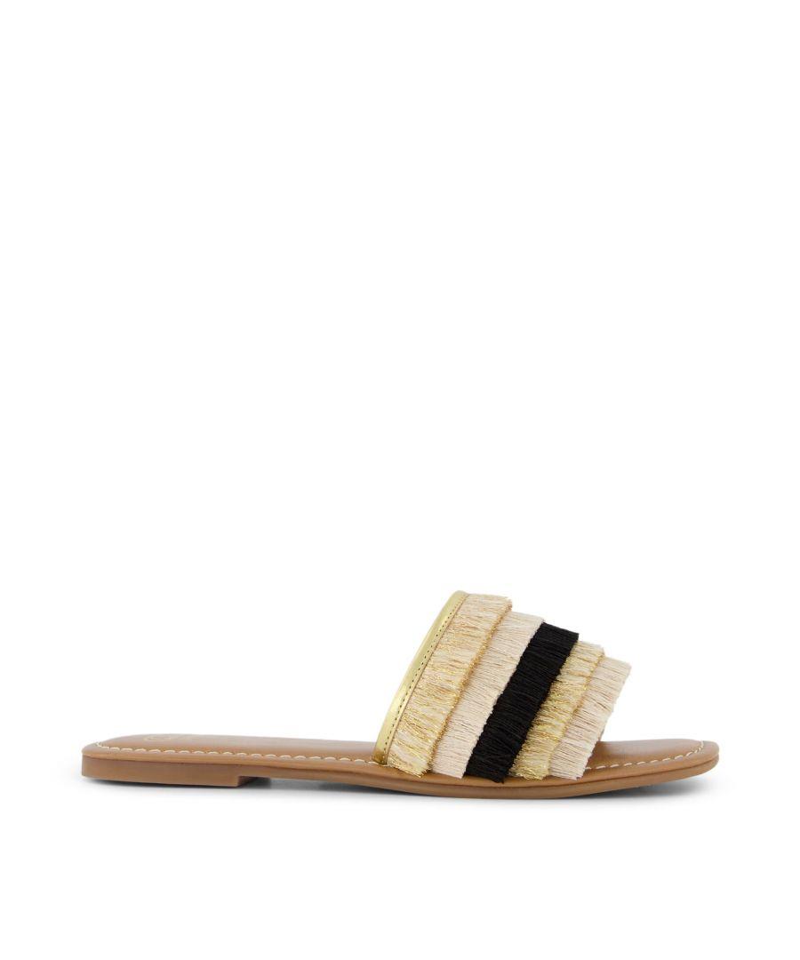 Image for Dune Ladies LEMONEY Fringed Slider Sandals