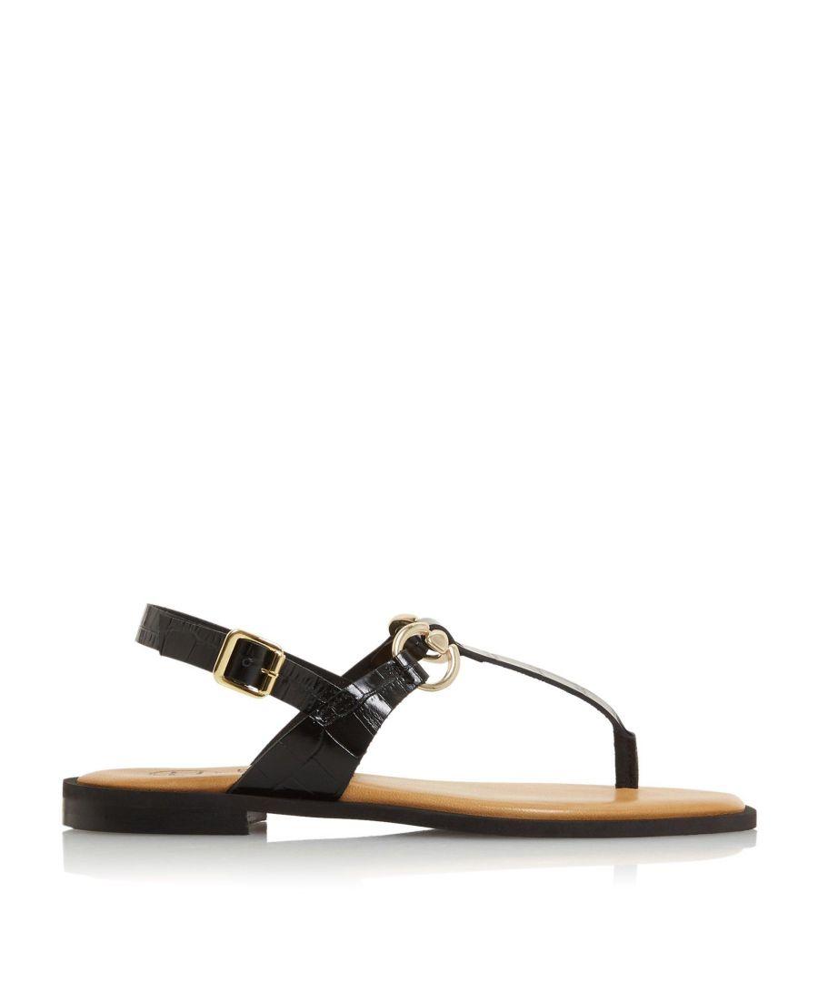 Image for Dune Ladies LENORE Saddle Trim Toe Post Sandals
