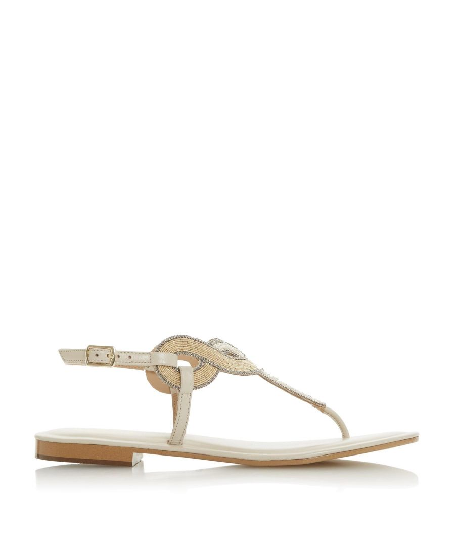 Image for Dune Ladies LETTIE Embellished Toe Post Sandals