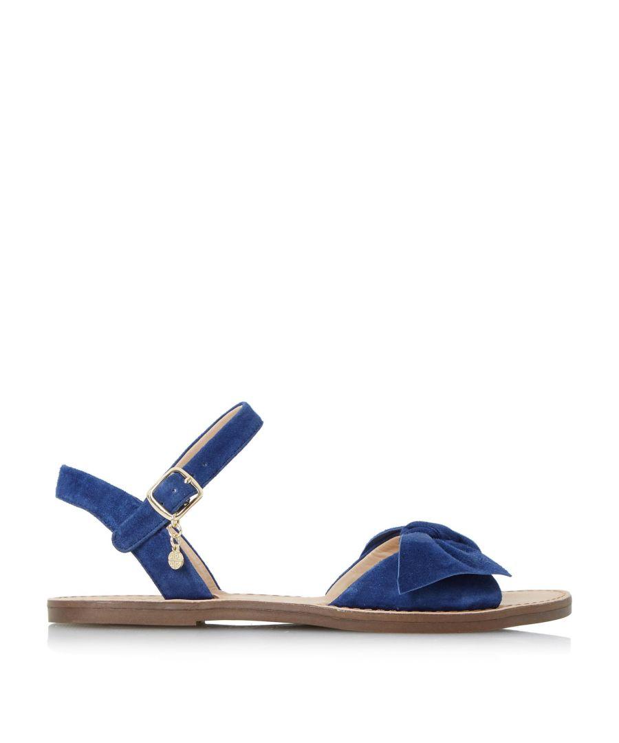 Image for Dune Ladies LETTIE Bow Trim Flat Sandal
