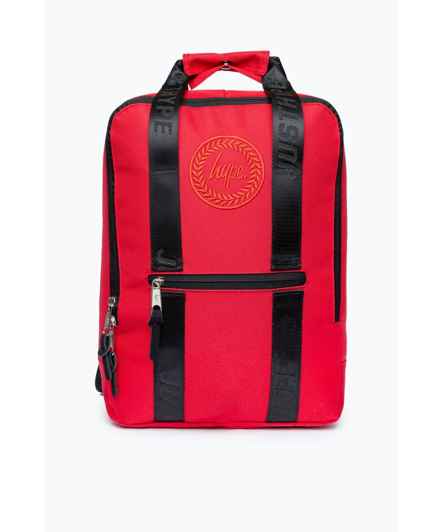 Image for Hype Red Boxy Backpack