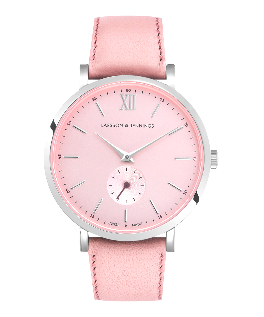 Image for Jura Leather 38mm Silver Pink