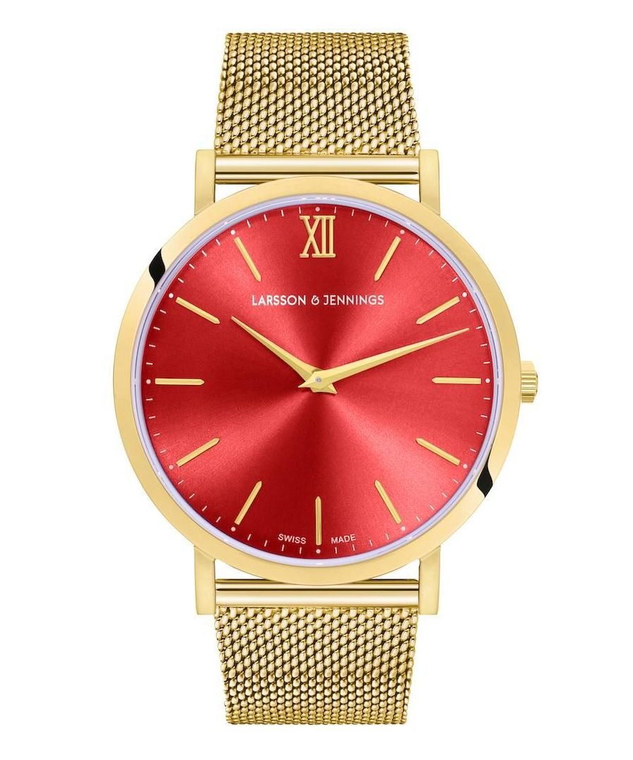 Image for Solaris Lugano Milanese 40mm Gold Red
