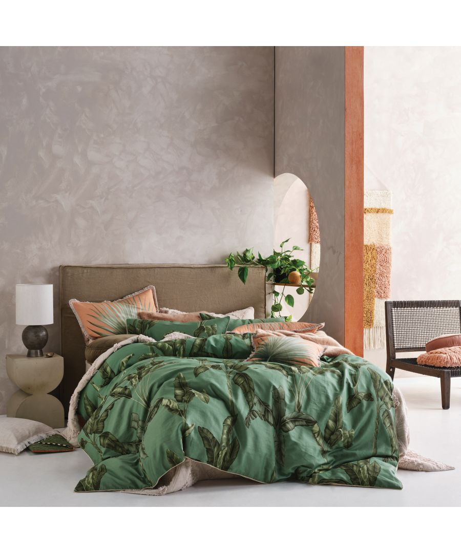 Image for Livia Duvet Set Green