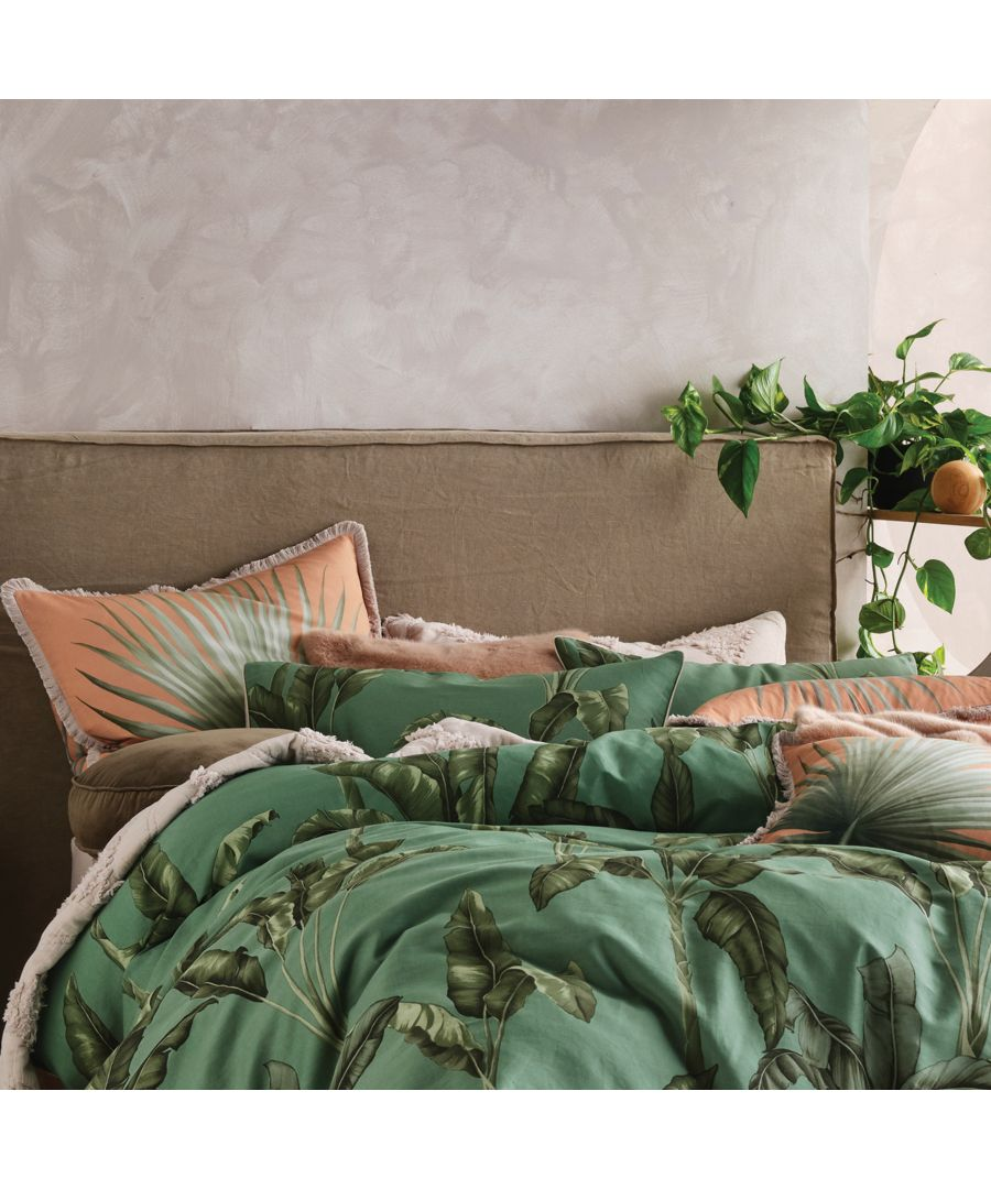 Image for Livia Pillowcase Pairs Green