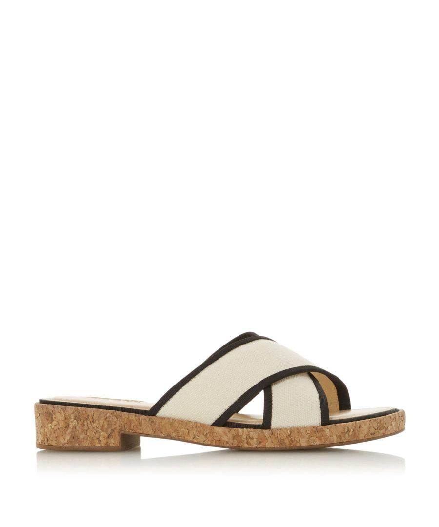Image for Dune Ladies LILIANNA Cross Strap Slider Sandals