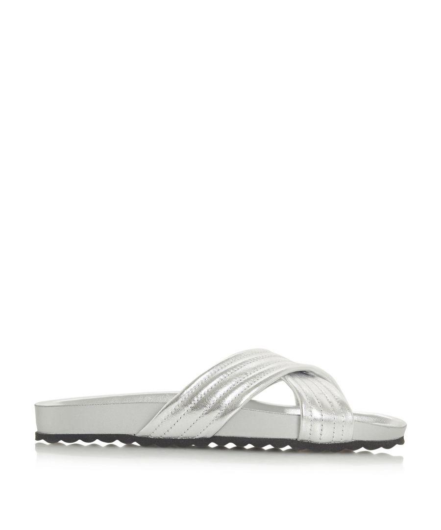 Image for Dune Ladies LINATE Cross Strap Slider Sandals