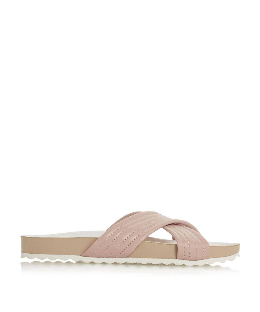 Image for Dune Ladies LINATE Cross Strap Slider Sandal
