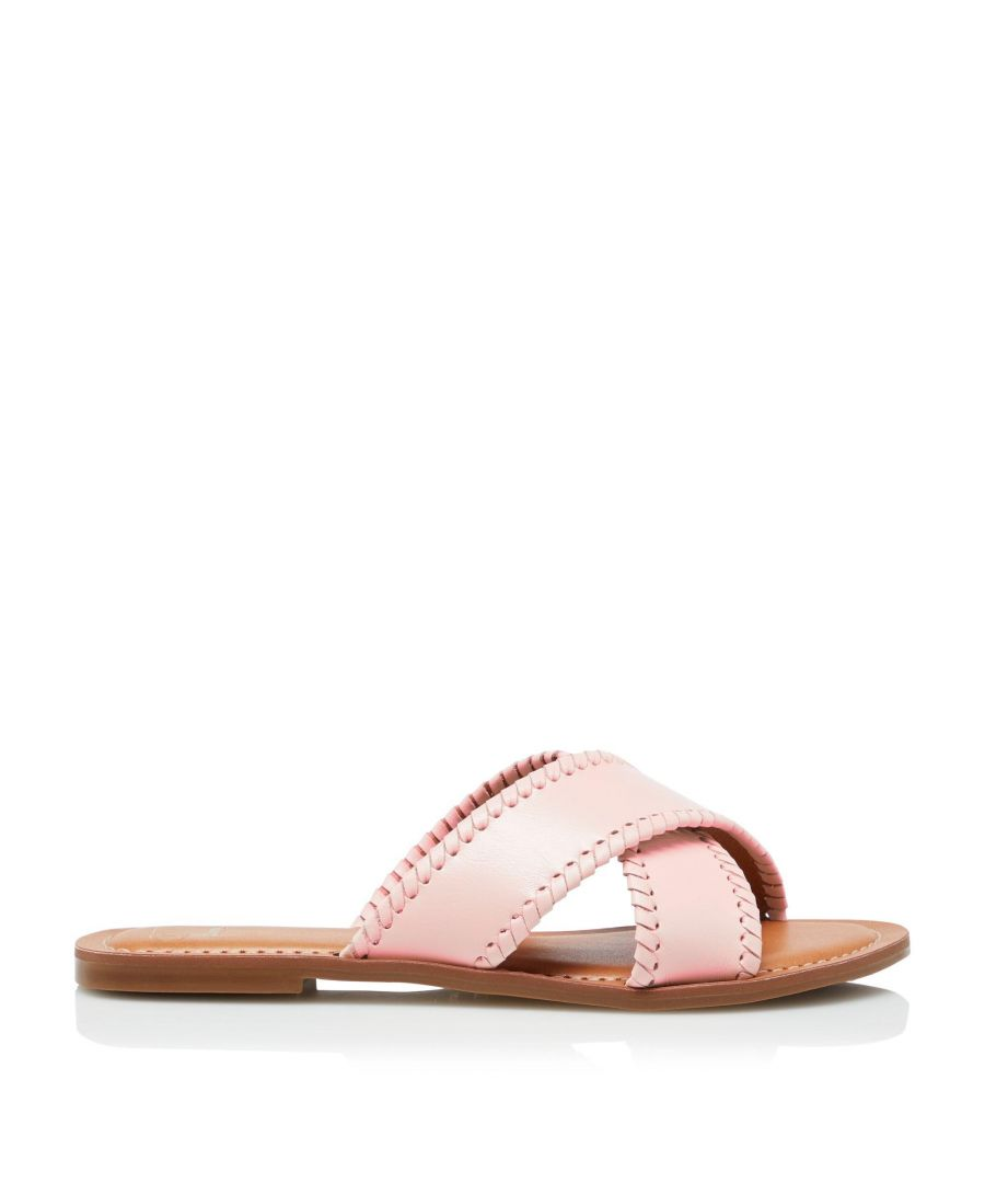Image for Dune Ladies LINDSY Cross Strap Whip Stitch Sandals