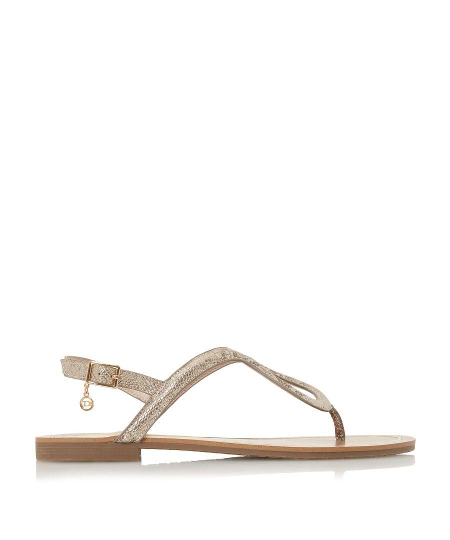 Image for Dune Ladies LINQ Loop Toe-Post Flat Sandals