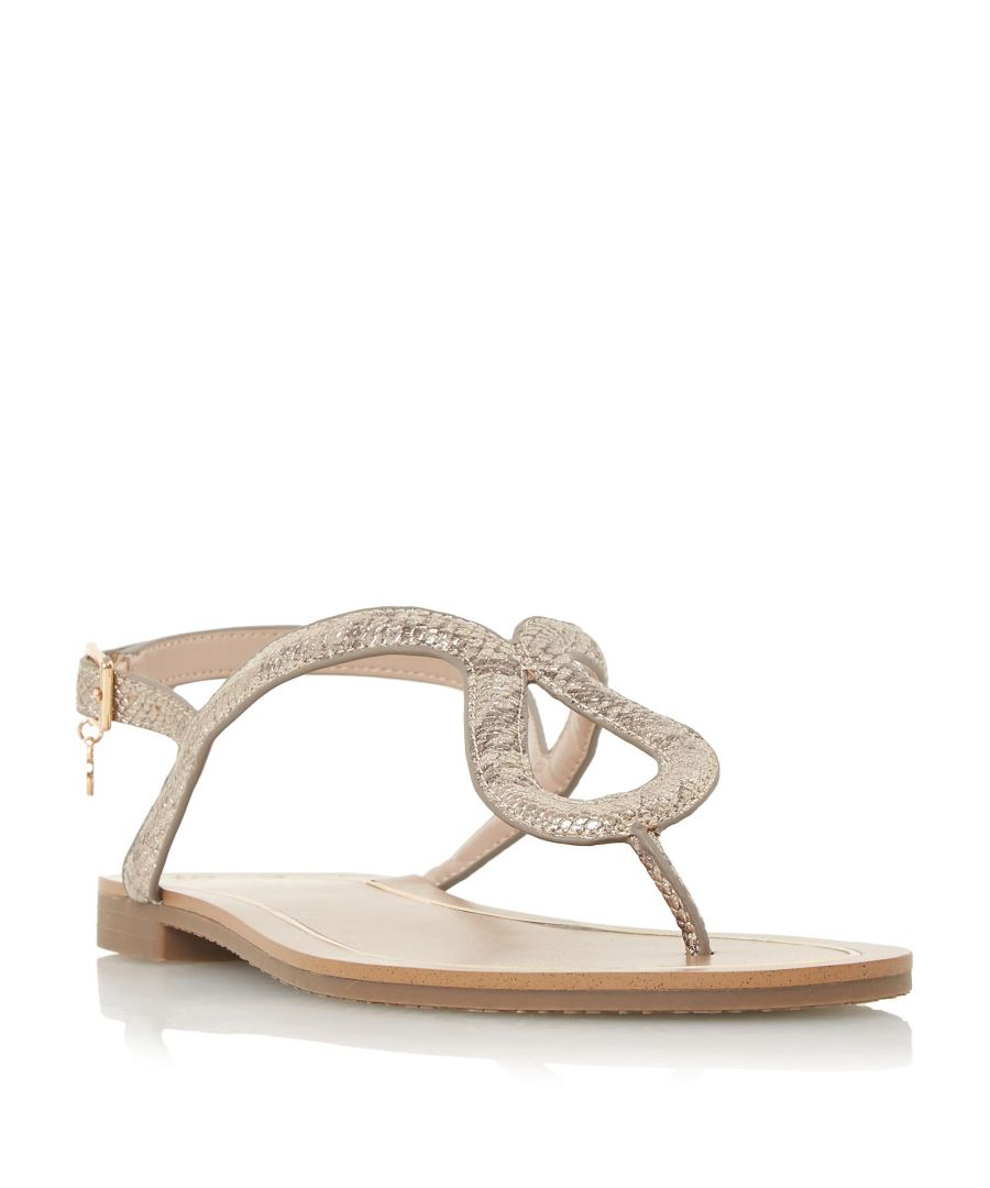 Image for Dune Ladies LINQ Loop Toe-Post Flat Sandal