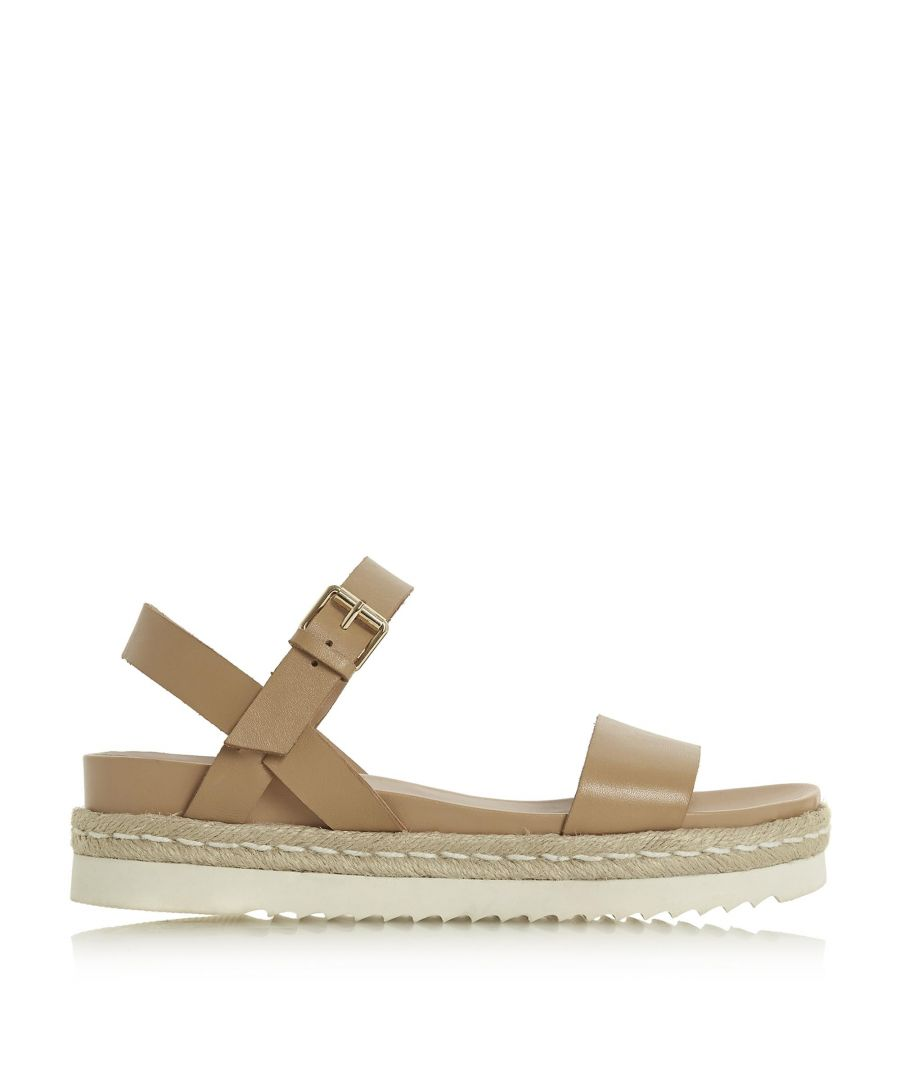 Image for Dune Ladies LISSY Two Part Espadrille Wedge Sandals