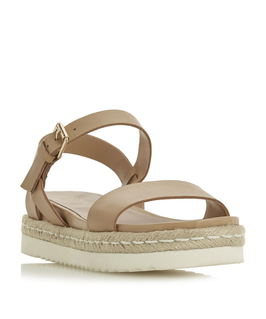 Image for Dune Ladies LISSY Two Part Espadrille Wedge Sandal