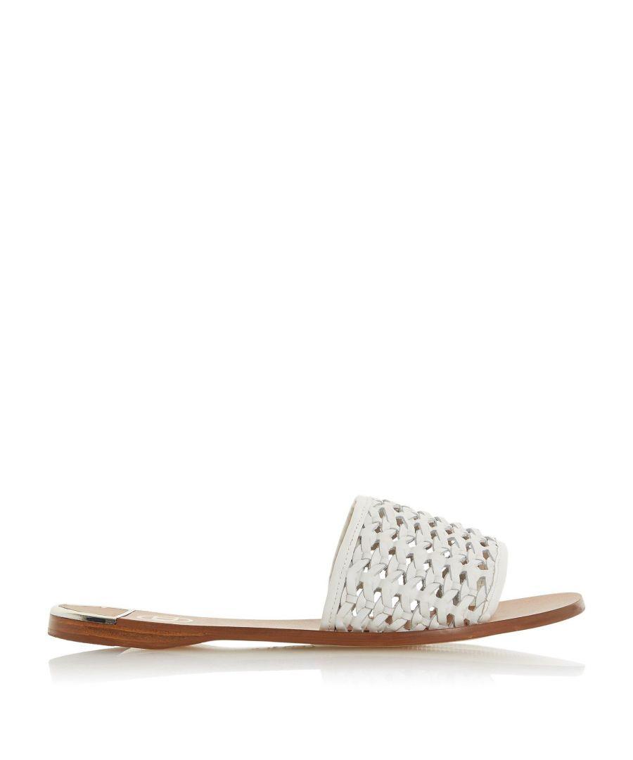 Image for Dune Ladies LOKET Woven Flat Slider Sandals
