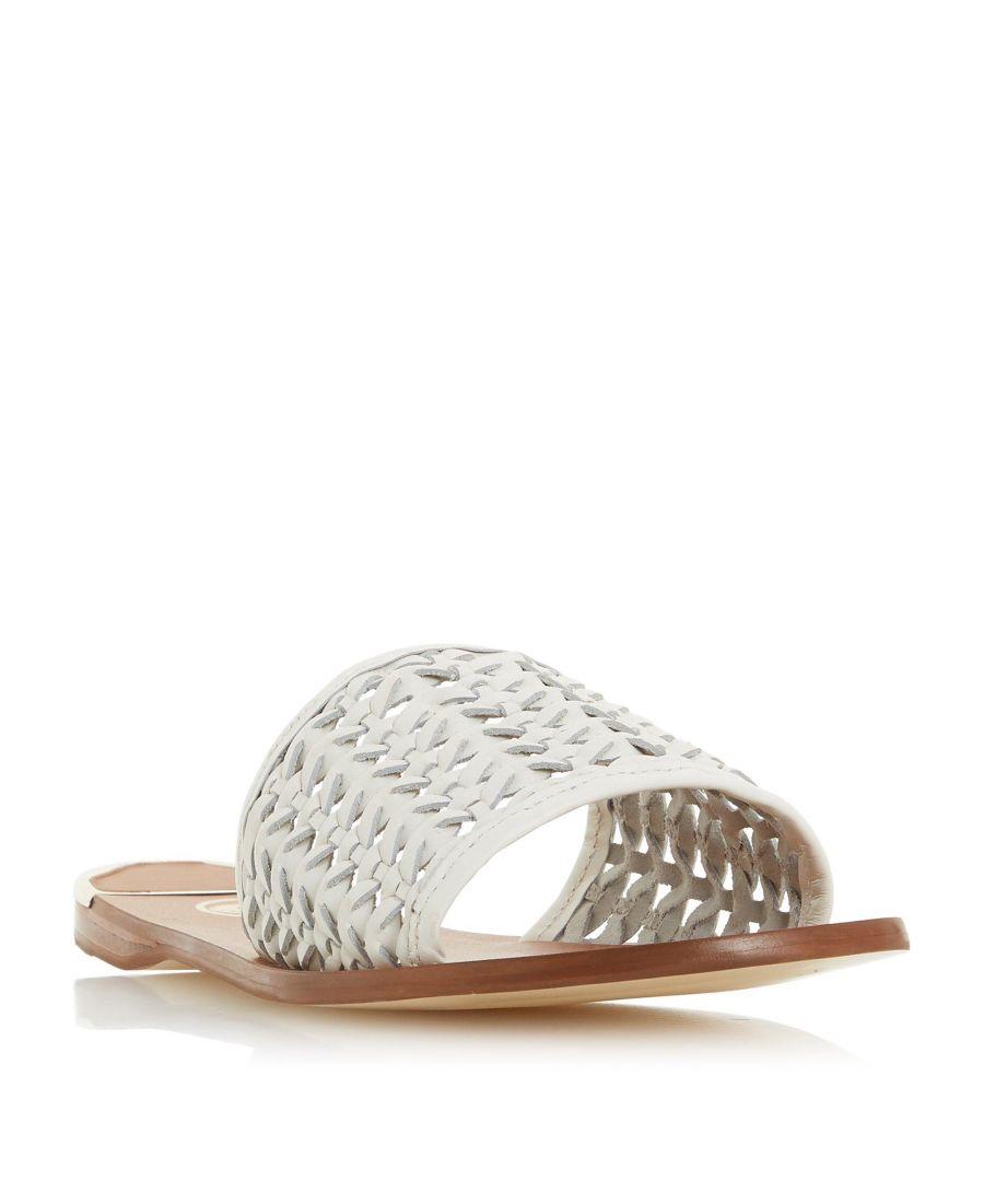 Image for Dune Ladies LOKET Woven Flat Slider Sandal