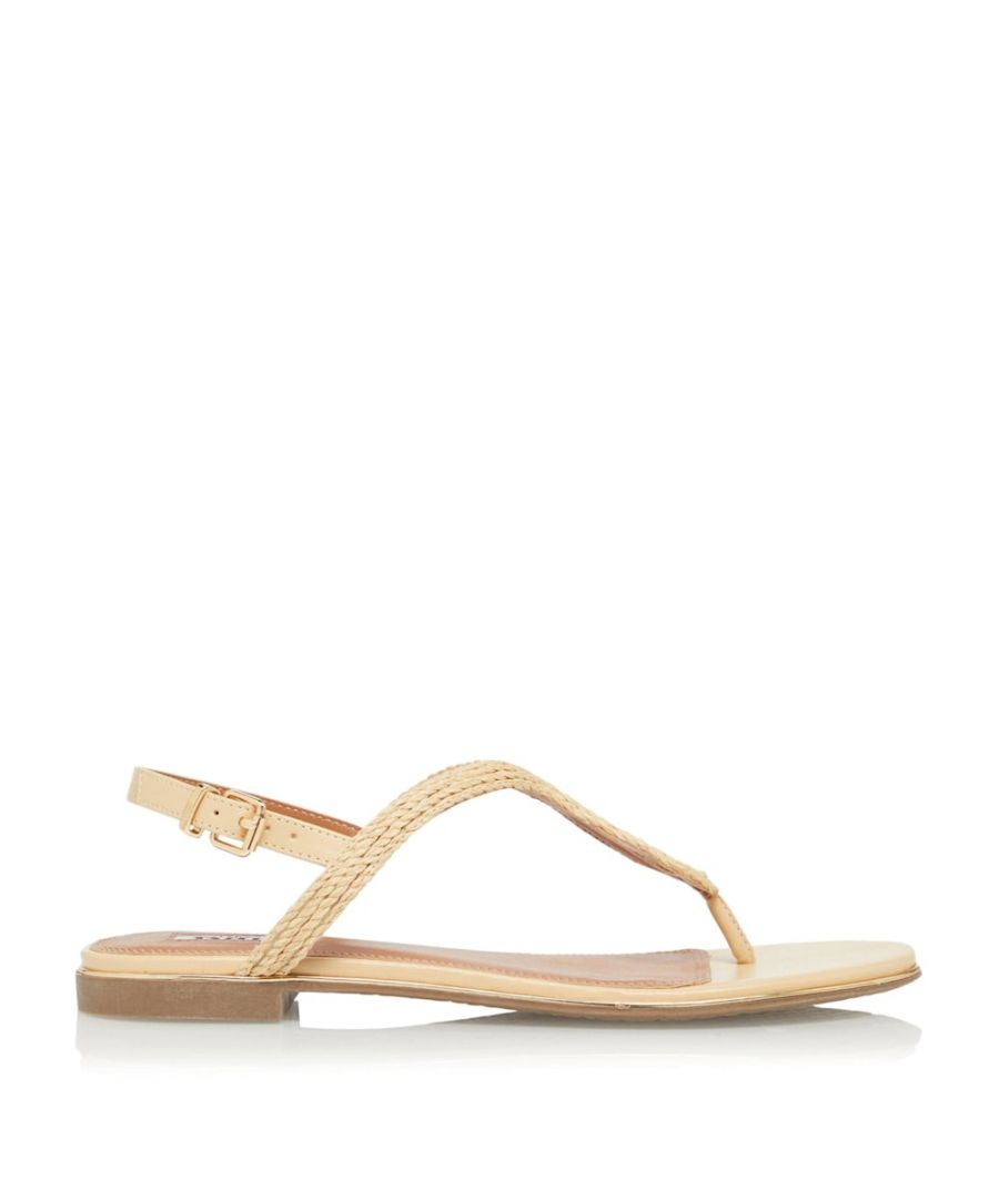 Image for Dune Ladies LONGLEY Woven Strap Flat Sandals