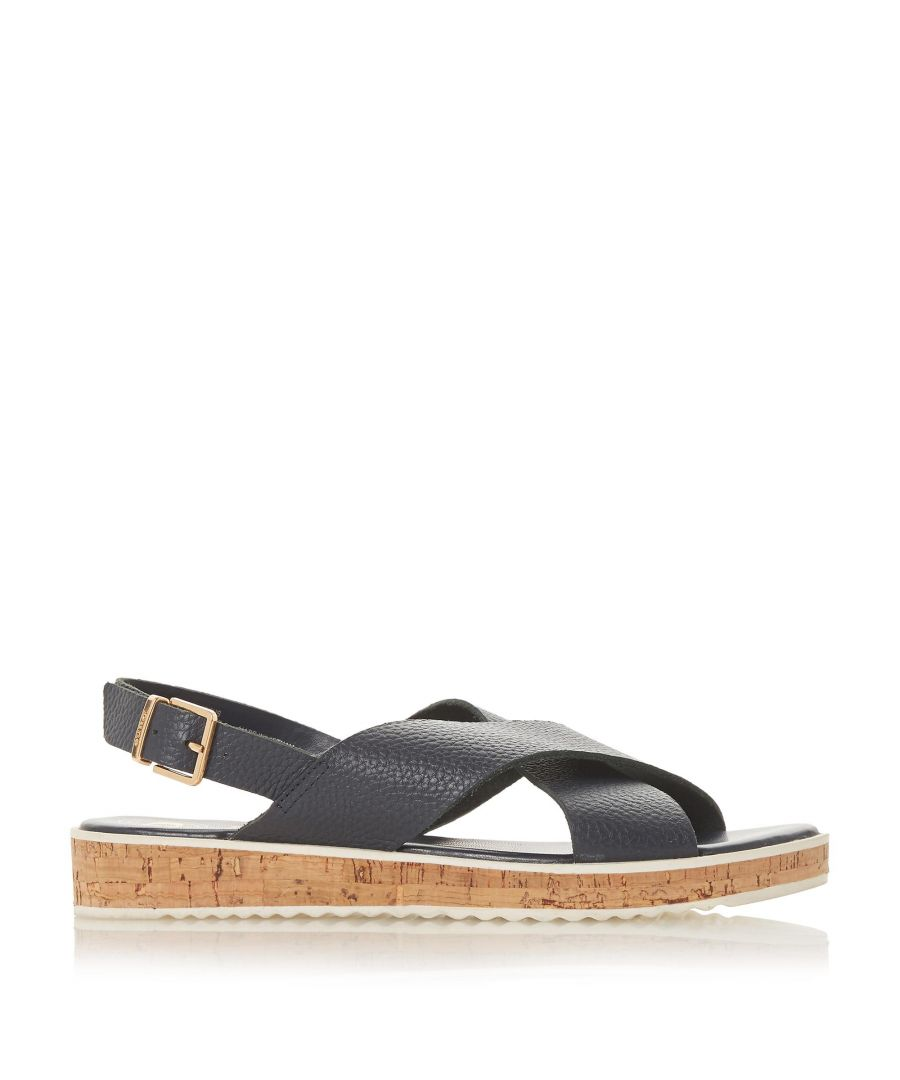 Image for Dune Ladies LORDE Cross Strap Flat Sandals