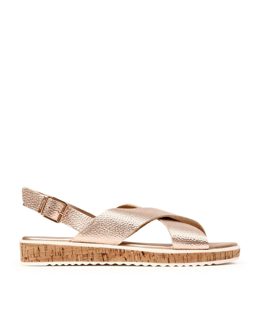Image for Dune Ladies LORDE XX Cross-Strap Flat Sandals