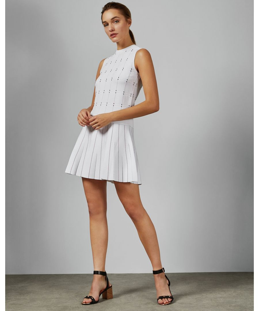 Image for Ted Baker Lornia Stitch Detail Mockable Dress in Ivory