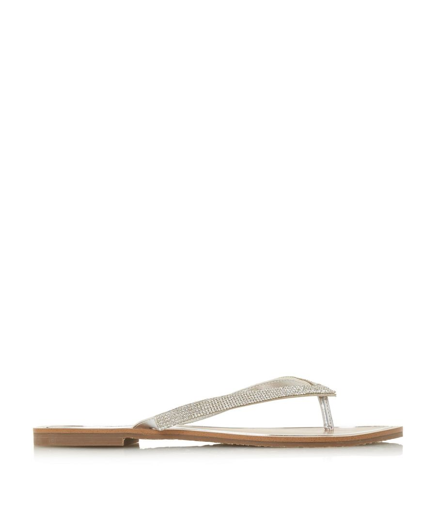 Image for Dune Ladies LOU-LOU Diamante Toe-Post Flat Sandals