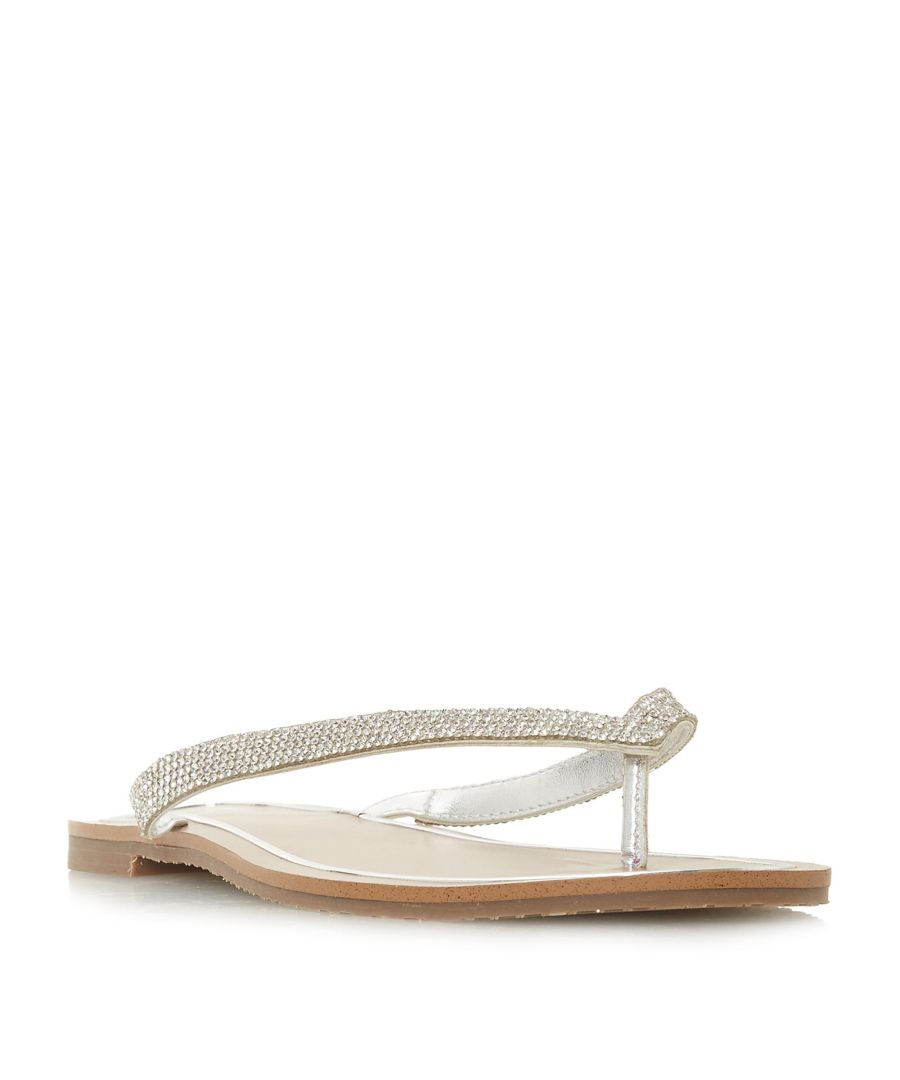 Image for Dune Ladies LOU-LOU Diamante Toe-Post Flat Sandal