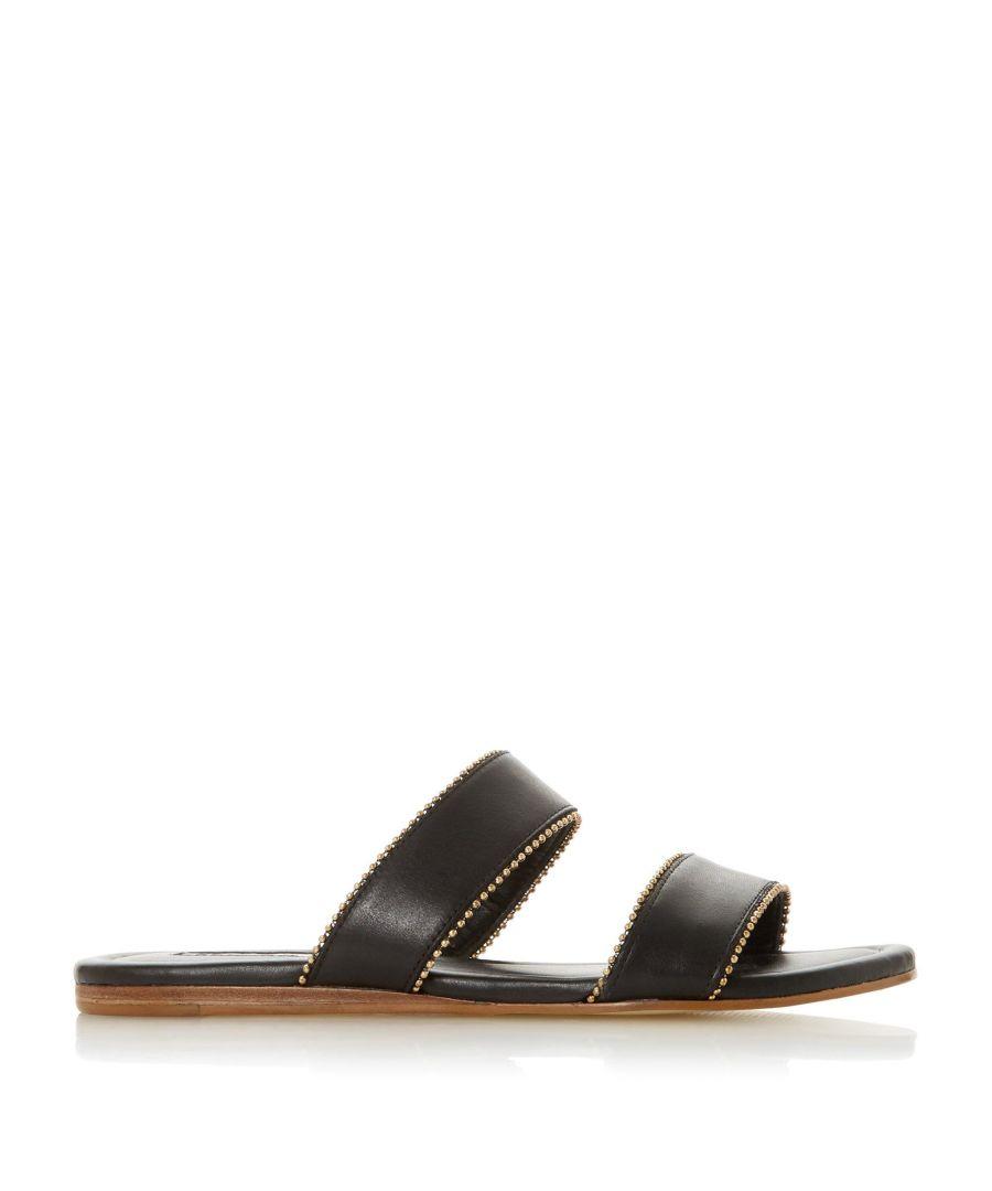 Image for Dune Ladies LOUPEZ Double Strap Beaded Slider Sandal