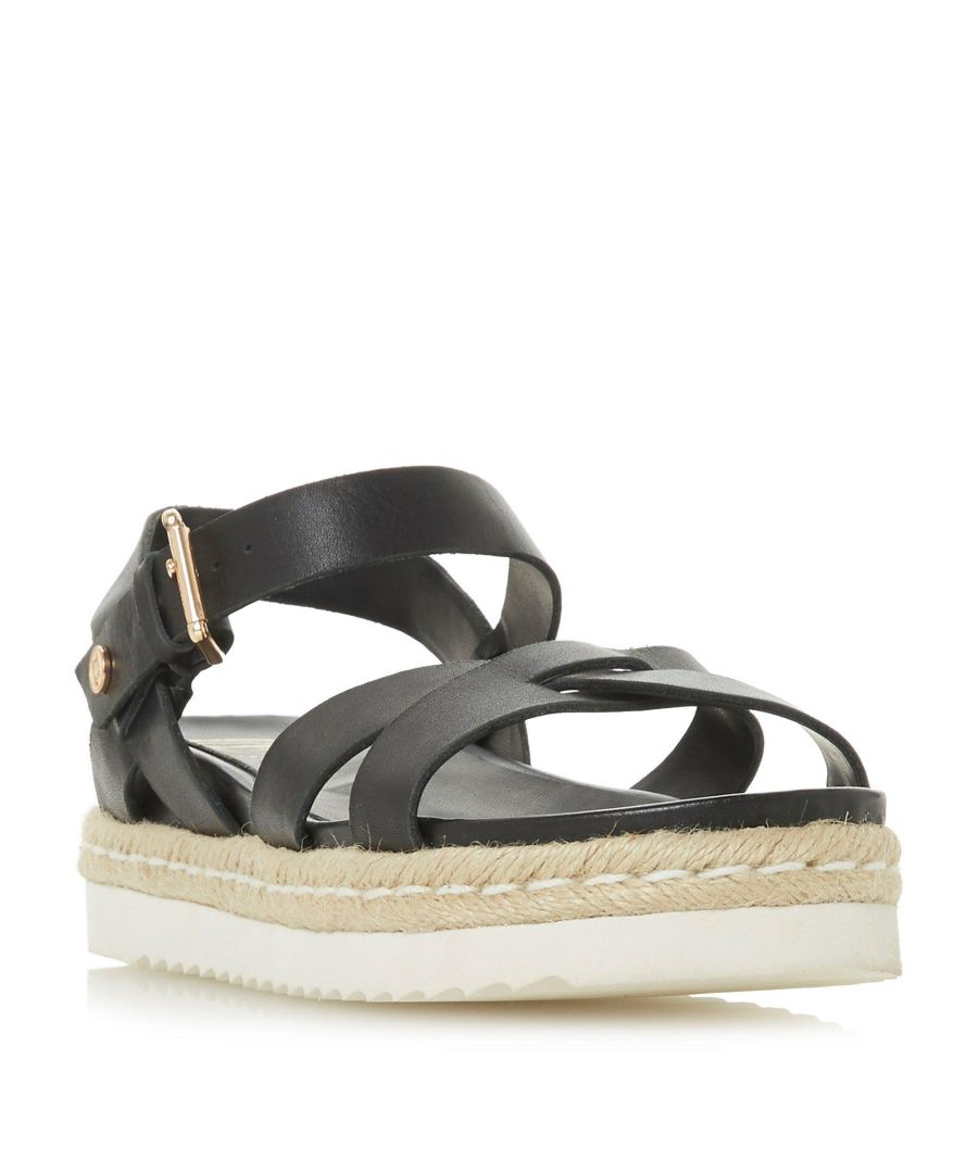 Image for Dune Ladies LOWRY Cross Strap Espadrille Flatform Sandal