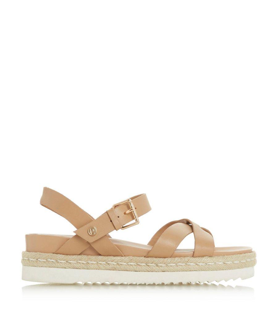 Image for Dune Ladies LOWRY Cross Strap Espadrille Flatform Sandals