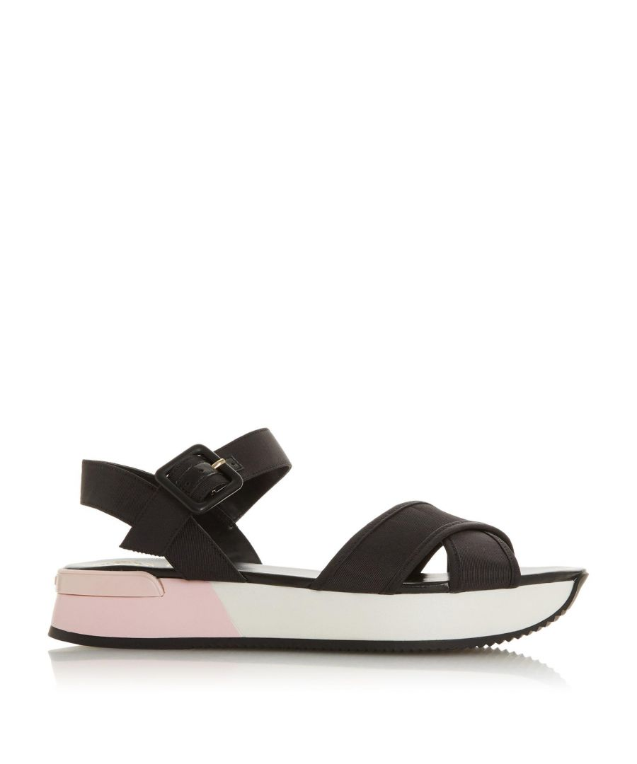 Image for Dune Ladies LOZZ Leather Platform Heel Sandal