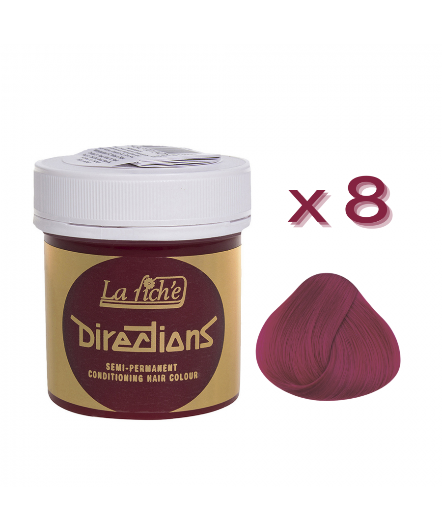 Image for 8 x La Riche Directions Semi-Permanent Hair Color 88ml Tubs - ROSE RED