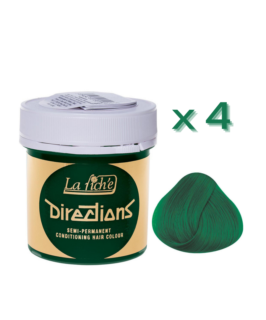 Image for 4 x La Riche Directions Semi-Permanent Hair Color 88ml Tubs - APPLE GREEN