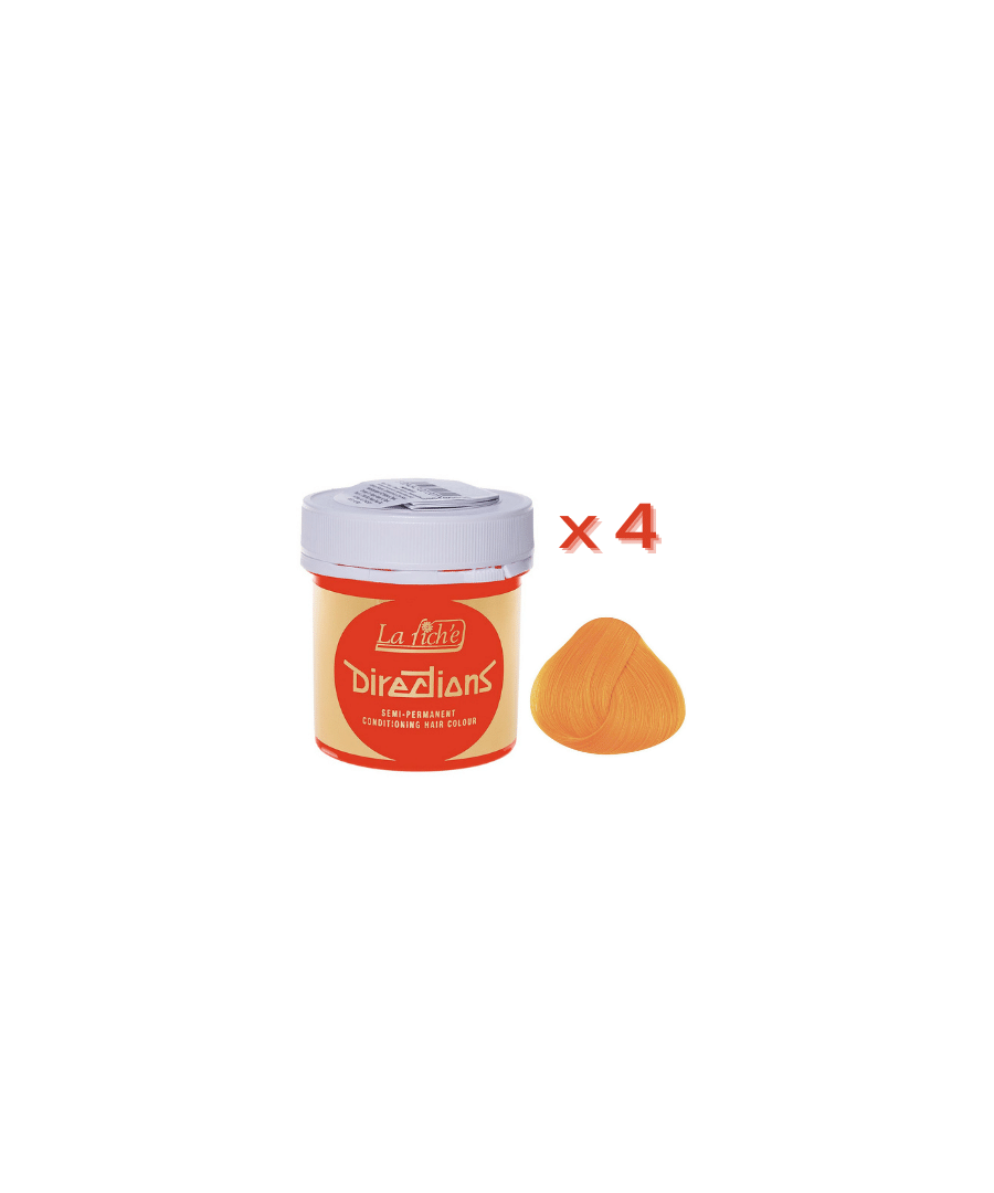 Image for 4 x La Riche Directions Semi-Permanent Hair Color 88ml Tubs - APRICOT